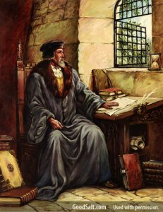 Wycliffe Translating the Bible ©Providence Collection: Licensed from GoodSalt.com