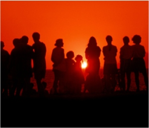 people in sun